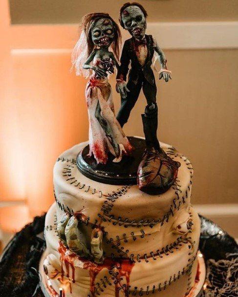 Blood Curdling Halloween Wedding Cakes
