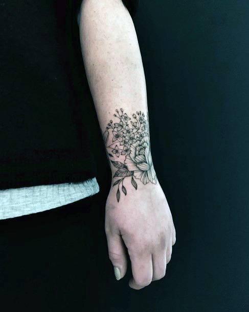 Blooming Tattoo Womens Wrist