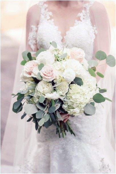Blooming White Hydrangea Wedding Flowers
