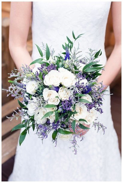Blossom Filled Lavender Flowers Bouquet Wedding