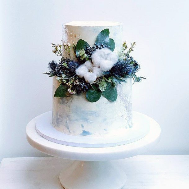 Blue And White Fall Wedding Flowers Women
