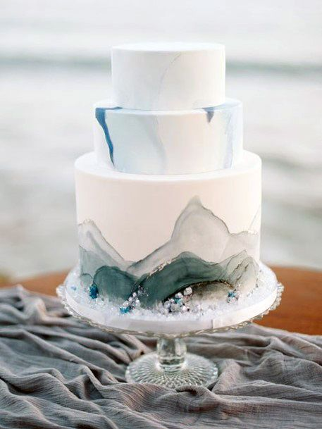 Blue Crystal Womens Wedding Cake Stand