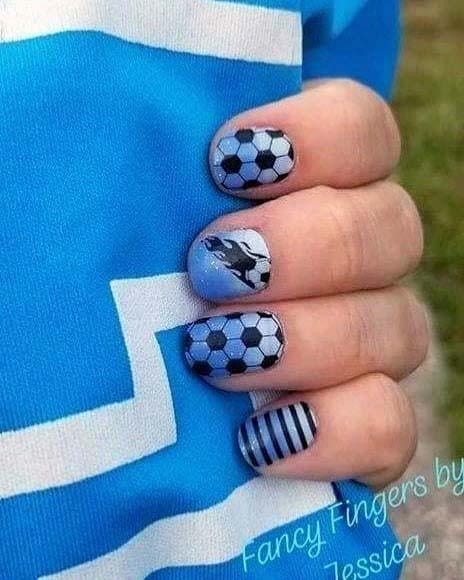 Bluish Sport Nails For Women