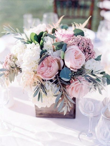Blush Florals Inspiration Wedding Centerpiece Ideas
