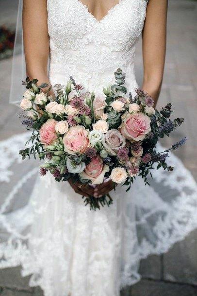 Blush Flowers Bunch Wedding