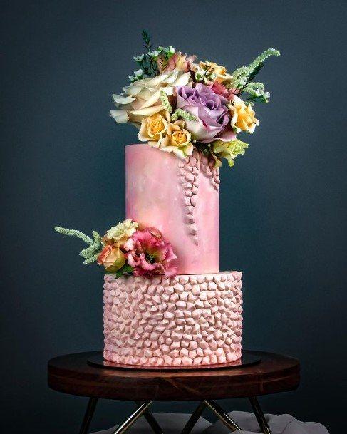 Blush Pink Buttercream Wedding Cake