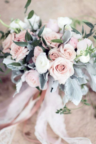 Blush Roses Bunch Wedding Flowers