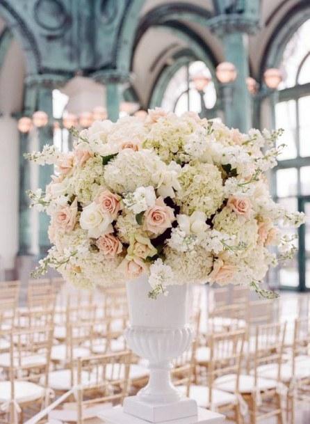 Blush Roses Flowers Bountiful Vase At Wedding