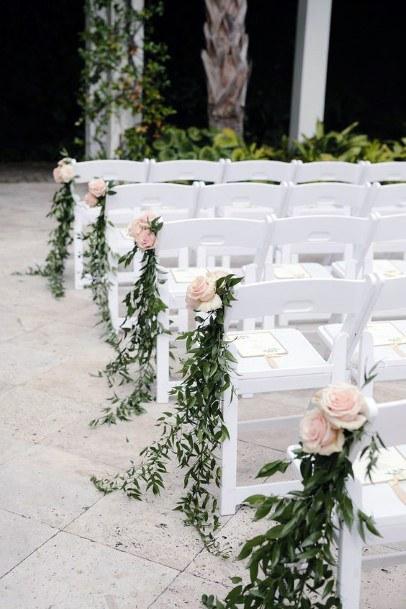 Blush Roses Wedding Chair Decorations