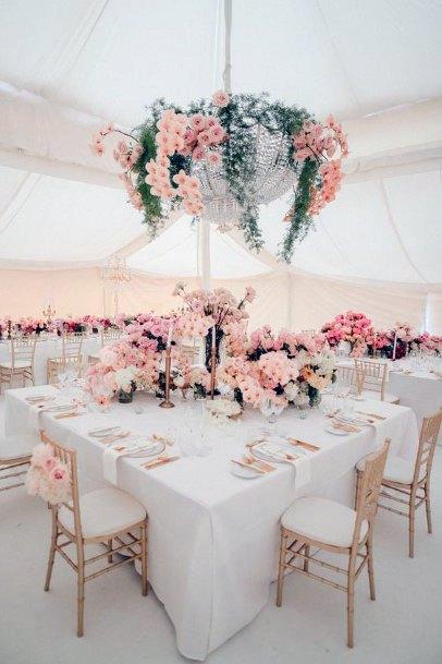 Blush Wedding Flowers Table Art