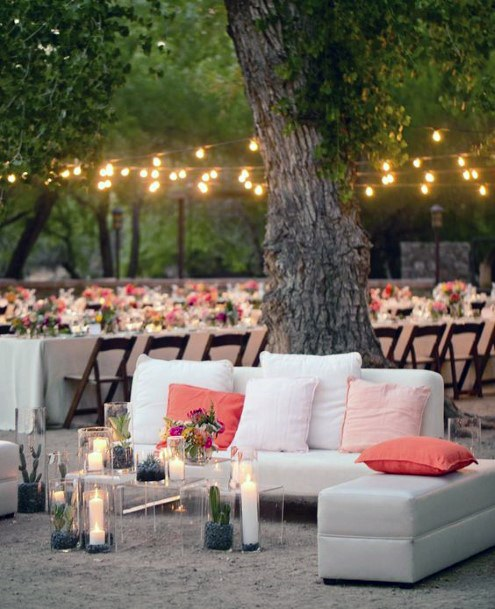 Boho Cozy Casual Lounge Area Backyard Wedding Ideas