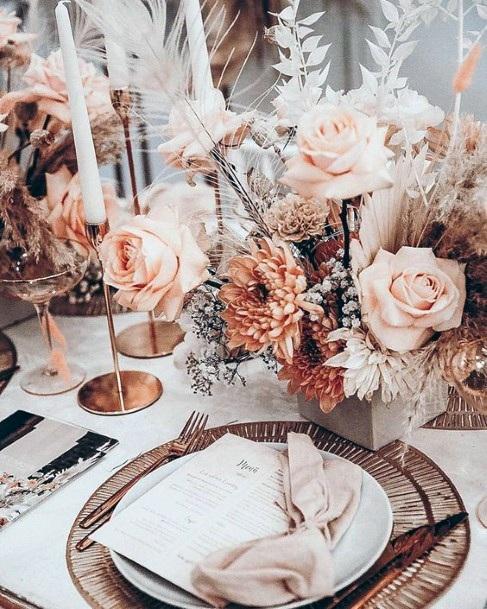 Boho Roses Wedding Flowers