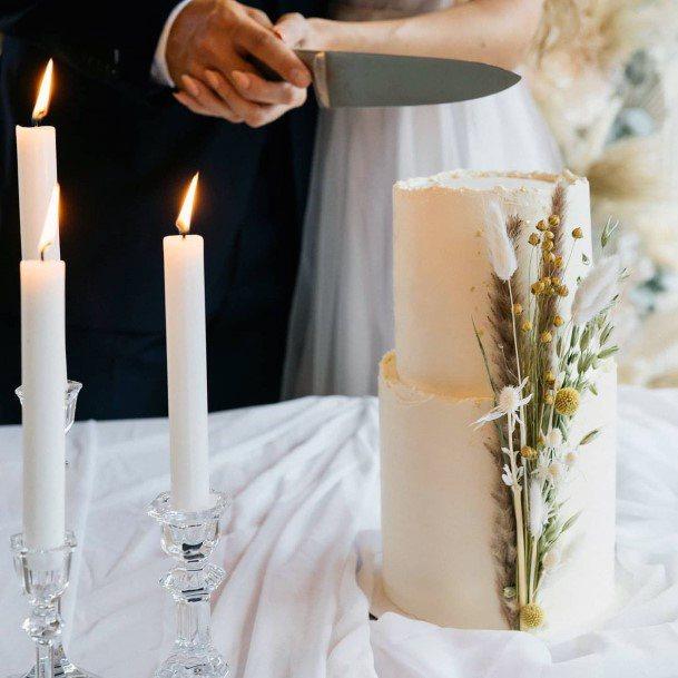Boho Wedding Flower Cake
