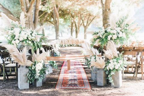 Boho Wedding Flowers Aisle Decor