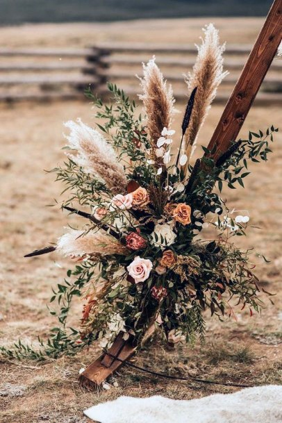 Boho Wedding Flowers Beach