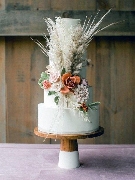 Boho Wedding Flowers On Cake