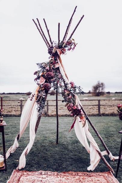Boho Wedding Flowers Platform