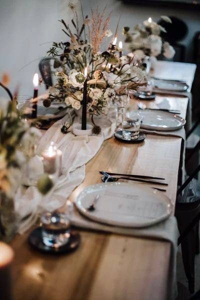 Boho Wedding Flowers Table Art