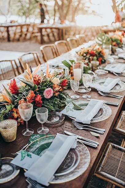 Boho Wedding Flowers Table Decor