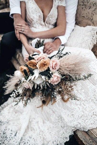 Boho Wedding Roses Flowers