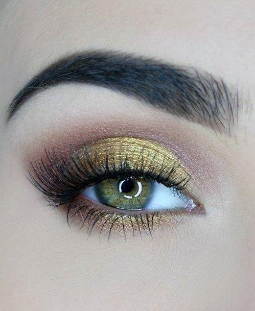 Bold Gold Eyeshadow Women