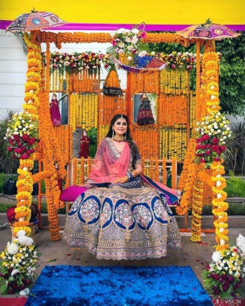 Bold Yellow Indian Wedding Decor Flowers