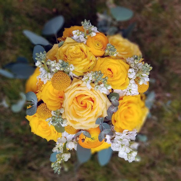Bold Yellow Wedding Flowers