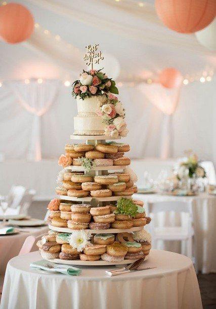 Bountiful Donut Wedding Cake