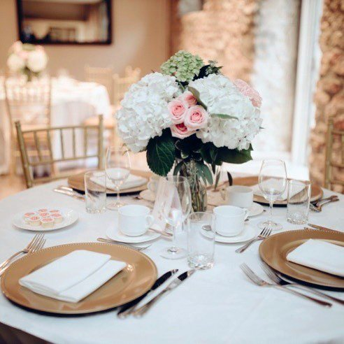 Bountiful White And Blush Flowers Wedding Vase Dining Decor
