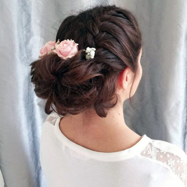Braided Crown Chignon Hairstyle Women