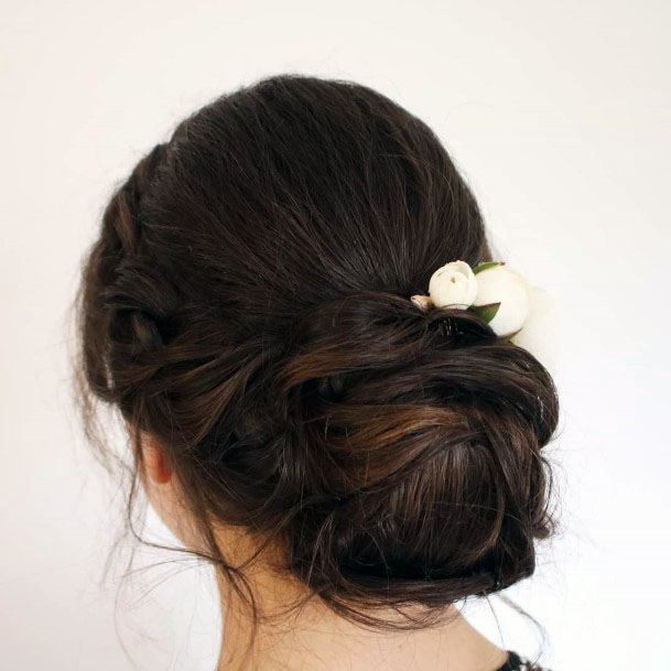 Braids And Bun Casual Chignon Hairstyle For Women