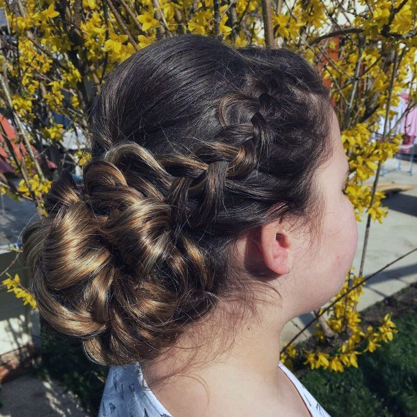 Braids And Knots Chignon Women Hairstyle