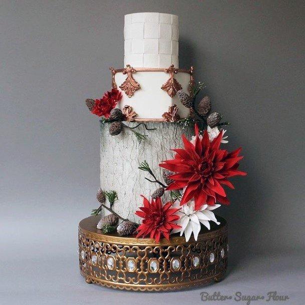 Brass Coated Jewelled Wedding Cake Stand Women