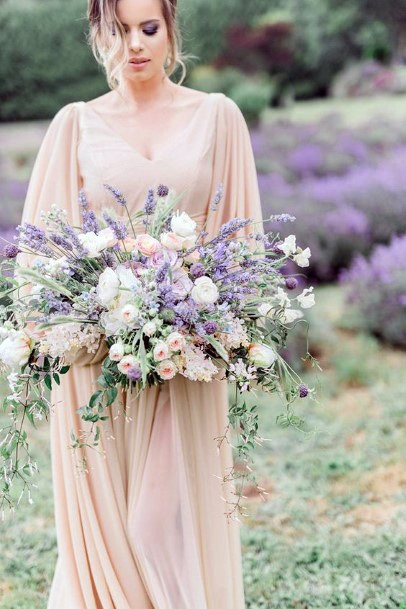 Breathtaking Lavender And White Flowers Wedding