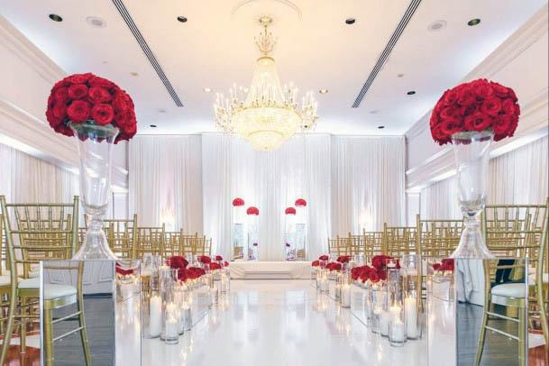 Breathtaking Red Flowers Wedding