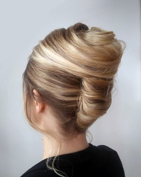 Bridal Inspiration French Twist With Side Curls For Women