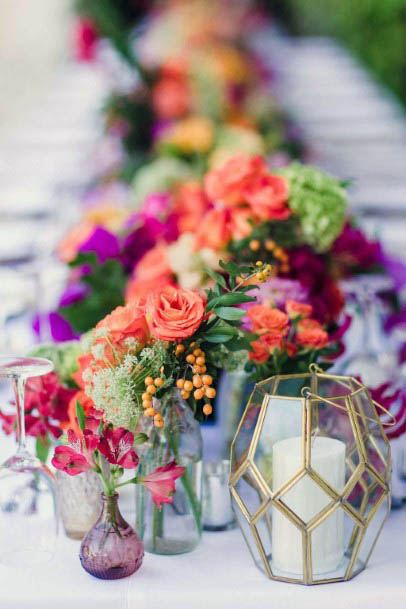 Bright August Wedding Flowers