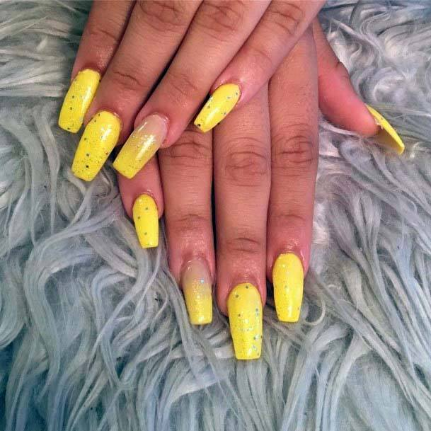 Bright Butter Yellow Nails For Women
