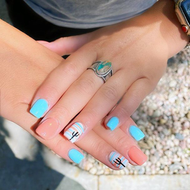 Bright Cactus Nails Women