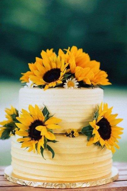 Bright Cake Wedding Women Sunflower