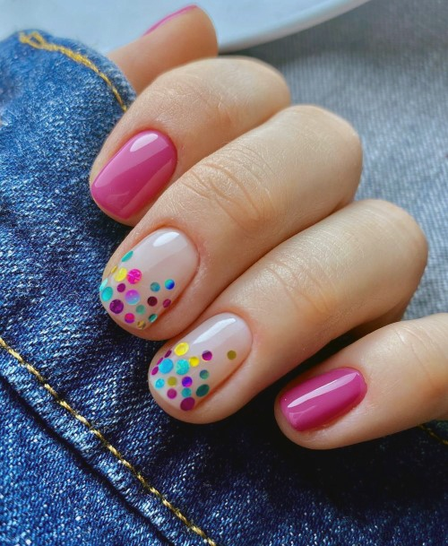 Bright Charming Colored Dots On Nails For Women
