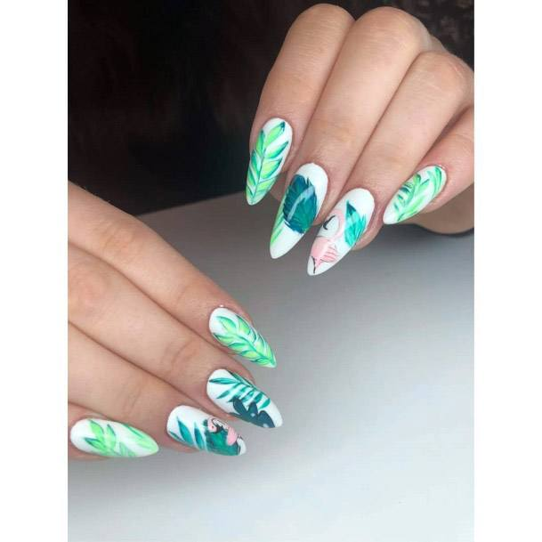Bright Green Plants Tropical Ideas For Nails Women