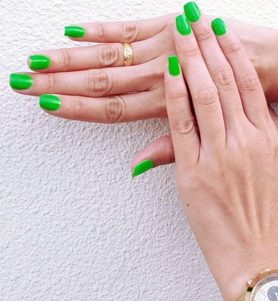 Bright Neon Green Nail