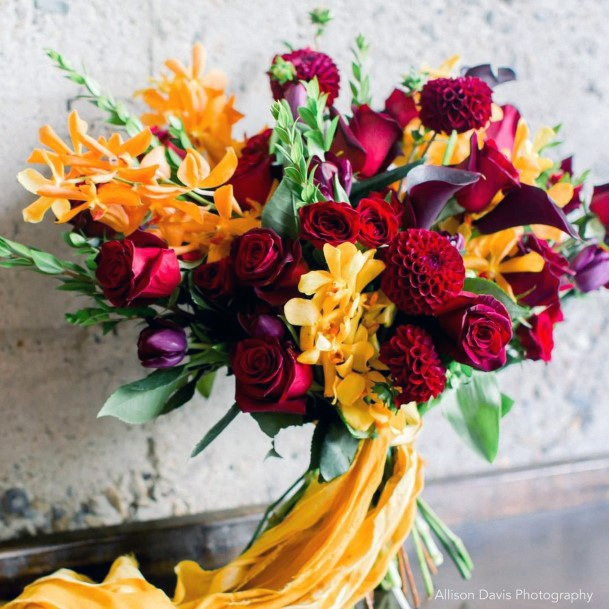 Bright November Wedding Flowers