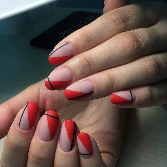 Bright Red And Coral Nail Ideas For Women