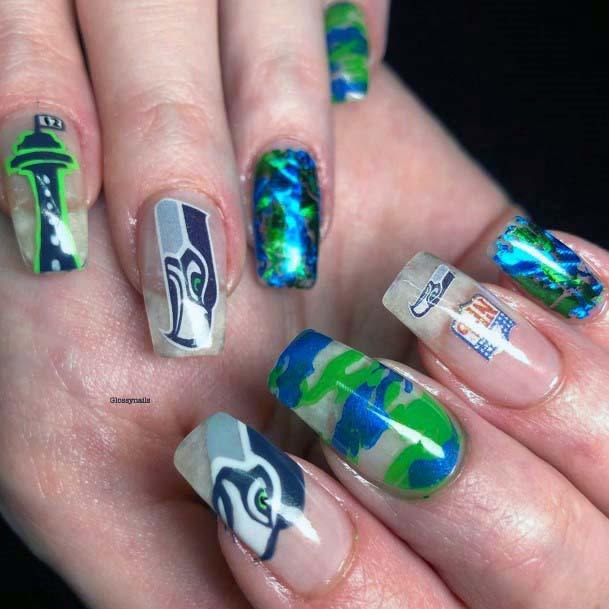 Bright Sport Nails Transparent For Women