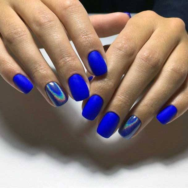 Brilliant Blue Colored Nails For Women