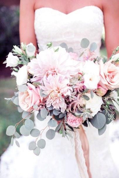 Brilliant Blush Bouquet Wedding Flowers Art