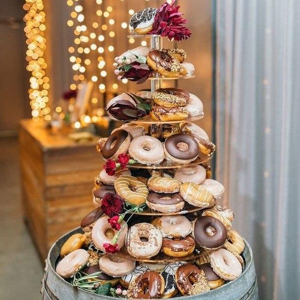 Brilliant Donut Wedding Cake