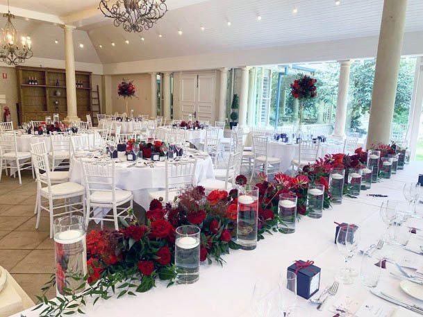 Brilliant Red Flowers Wedding Flowers